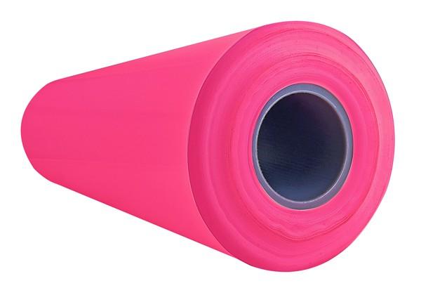 LDPE-Reinraumfolie, 1000/1000 mm breit, 100 Lfm, antistatisch, pink (Halbschlauchfolie)
